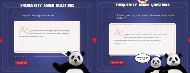 Panda Express F.A.Q.