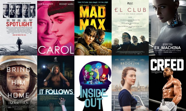 Las películas más destacadas en las listas de resumen de 2015