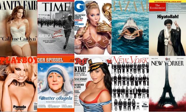 Algunas de las portadas más destacadas de 2015